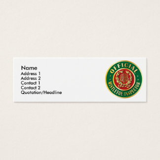 Official Mistletoe Inspector Mini Business Card