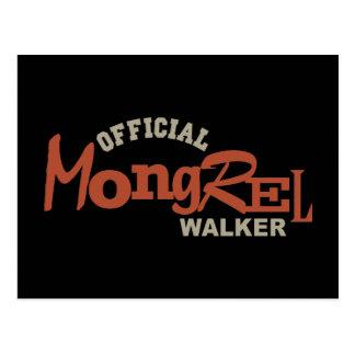 Official Mongrel DOG Walker Postcard