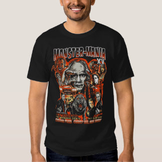 Official Monster-Mania 15 Horror Convention Tee Shirts