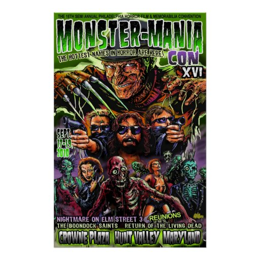 Official Monster-Mania 16 Horror Convention Print