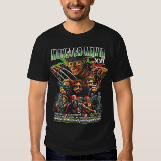 Official Monster-Mania 16 Horror Convention T-shirts