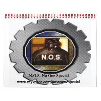 Official N.O.S. No One Special Calender Calendar
