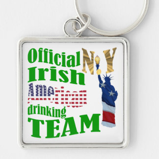 Official N.Y. Irish American drinking team Keychains