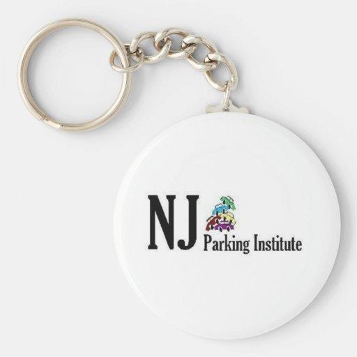 Official NJ Parking Institute Logo Basic Round Button Keychain