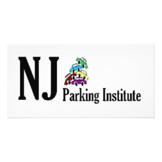 Official NJ Parking Institute Logo Personalized Photo Card