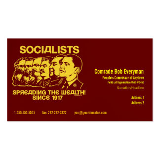 Official Obammunist Part Commissar Card Business Card Templates