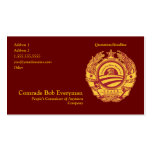 Official Obammunist Part Commissar Card Double-Sided Standard Business Cards (Pack Of 100)