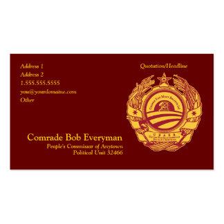 Official Obammunist Part Commissar Card Business Card Template