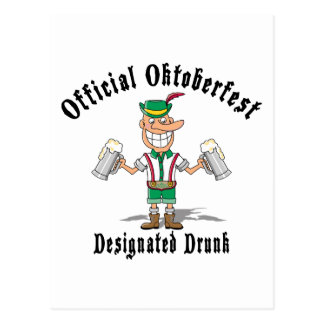 Official Oktoberfest Designated Drunk Postcard