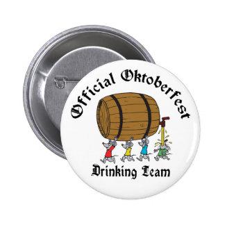 Official Oktoberfest Drinking Team Button