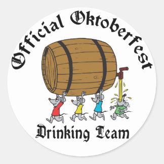Official Oktoberfest Drinking Team Classic Round Sticker