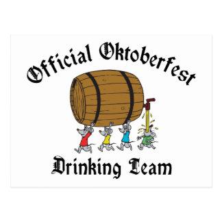 Official Oktoberfest Drinking Team Postcard