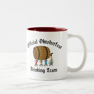 Official Oktoberfest Drinking Team Two-Tone Coffee Mug