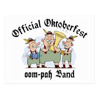 Official Oktoberfest Oom Pah Band Gift Postcard