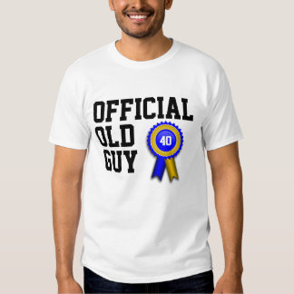 Official Old Guy 40th Birthday T-Shirt
