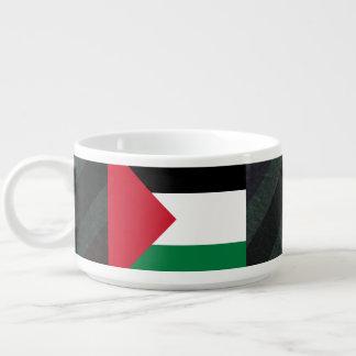 Official Palestine Flag on stripes Bowl