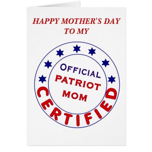 OFFICIAL PATRIOT MOM! CARD