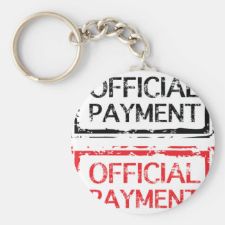 Official Payment Grunge Stamp Basic Round Button Keychain