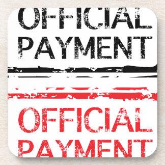 Official Payment Grunge Stamp Beverage Coaster