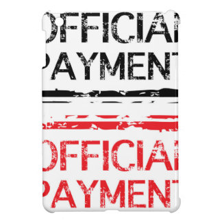 Official Payment Grunge Stamp Cover For The iPad Mini