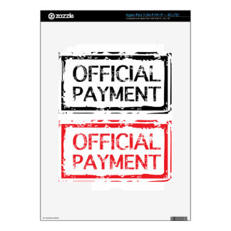 Official Payment Grunge Stamp Decal For iPad 3