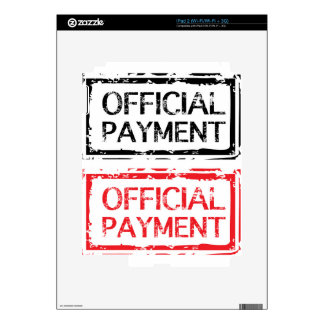 Official Payment Grunge Stamp Decals For iPad 2