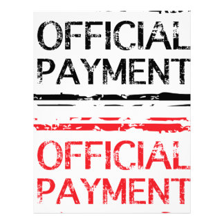 Official Payment Grunge Stamp Letterhead