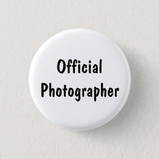Official Photographer Pinback Button