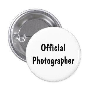 Official Photographer Pinback Button
