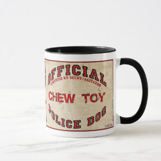 Official Police Dog Chew Toy Mug