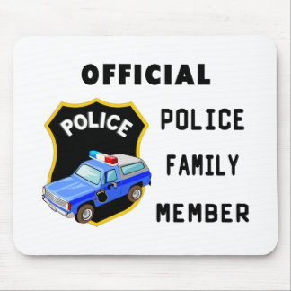 Official Police Family Mouse Pad