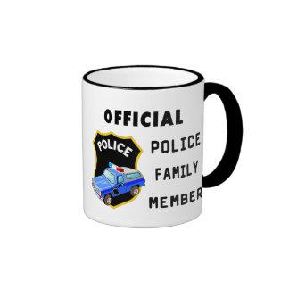 Official Police Family Ringer Mug