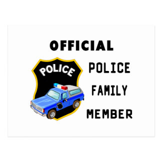 Official Police Family Postcard