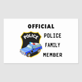 Official Police Family Rectangular Sticker
