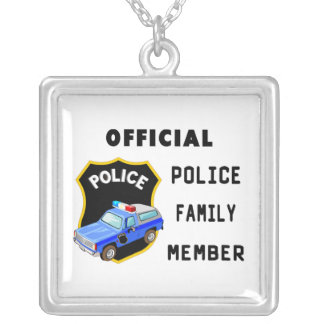 Official Police Family Silver Plated Necklace