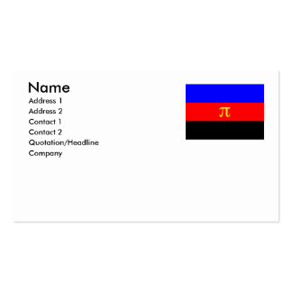OFFICIAL POLYAMORY PRIDE FLAG -.png Double-Sided Standard Business Cards (Pack Of 100)