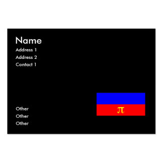 OFFICIAL POLYAMORY PRIDE FLAG -.png Large Business Cards (Pack Of 100)