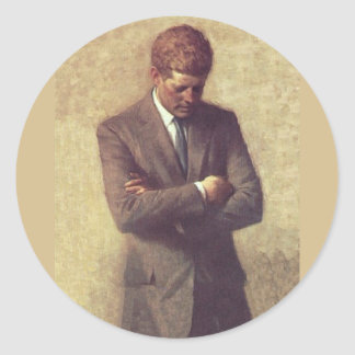 Official Portrait John F. Kennedy Classic Round Sticker
