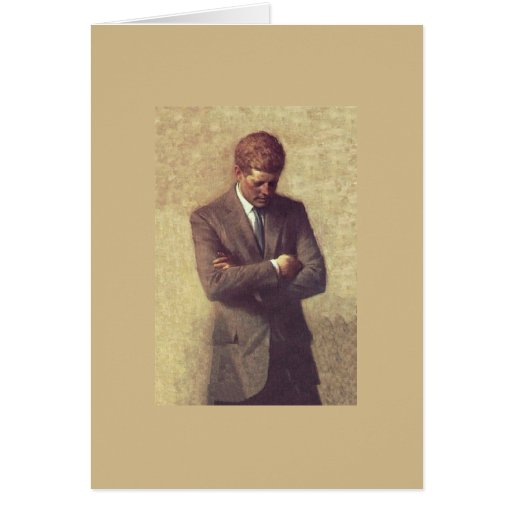 Official Portrait John F. Kennedy Greeting Cards