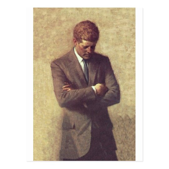 Official Portrait John F. Kennedy Postcard