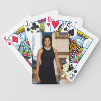 Official Portrait of First Lady Michelle Obama Bicycle Playing Cards