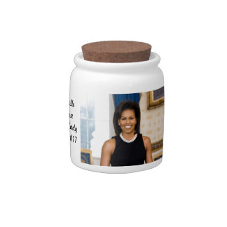 Official Portrait of First Lady Michelle Obama Candy Jars