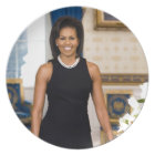 Official Portrait of First Lady Michelle Obama Dinner Plate