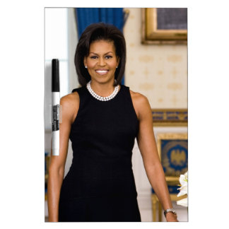 Official Portrait of First Lady Michelle Obama Dry Erase Board