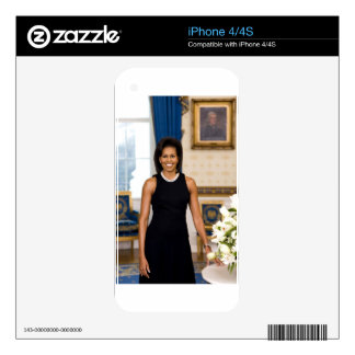 Official Portrait of First Lady Michelle Obama iPhone 4 Decal