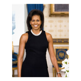 Official Portrait of First Lady Michelle Obama Letterhead