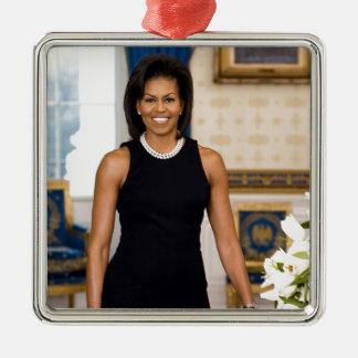 Official Portrait of First Lady Michelle Obama Metal Ornament