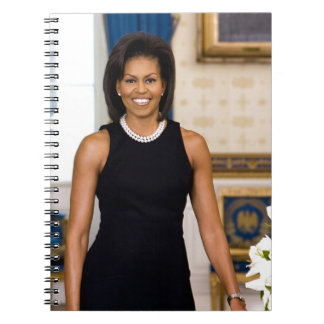 Official Portrait of First Lady Michelle Obama Notebook