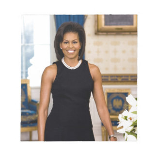 Official Portrait of First Lady Michelle Obama Notepad