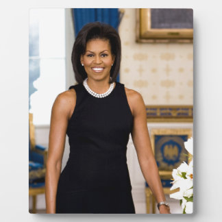 Official Portrait of First Lady Michelle Obama Plaque